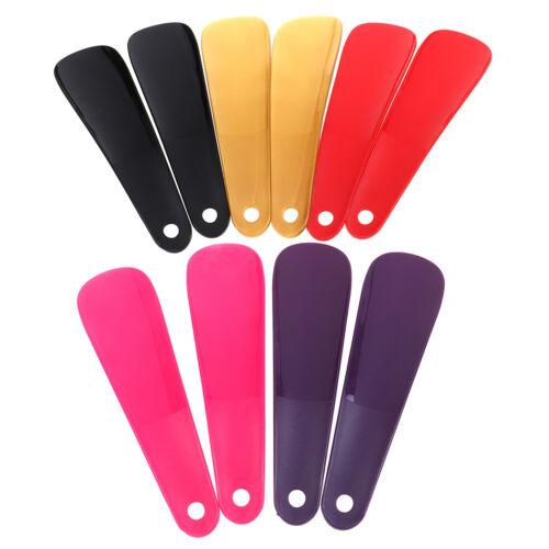 2Pcs 16cm Shoe horns plastic shoe horn spoon shape shoehorn shoe lifter P*USJWD
