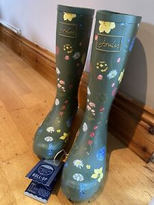 Joules-Olive-Flowers-Roll-Up-Wellies-Size-5-2233