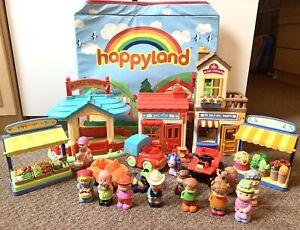 Elc-Happyland-Playset-Bundle-con-scatola-di-immagazzinaggio-pieghevole-Playmat-LOTTO-1