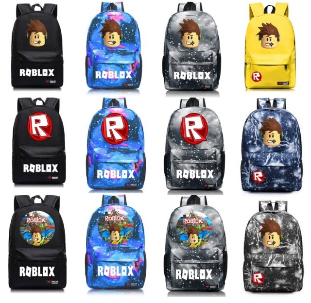 Roblox Backpack School Bag Students Bookbag Handbags Travelbag Game Kids Boys