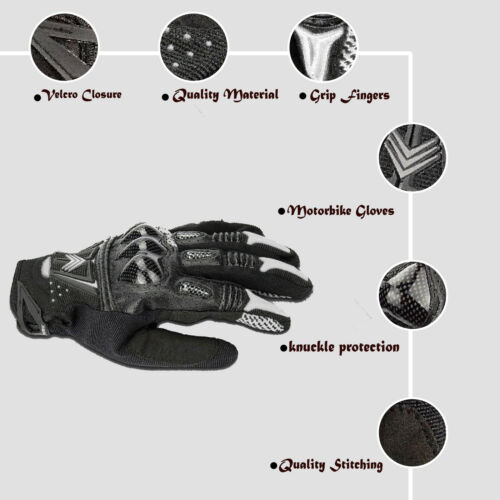 Motorbike Gloves Cycling Winter Water Resist Leather Sports Protective Biker BMX