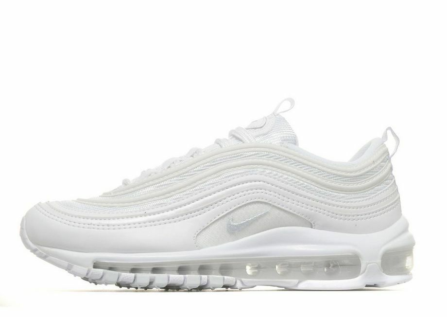 NIKE AIR MAX 97 OG QS ''Triple White'' Gris femmes Girls Boys Trainers 921522-100