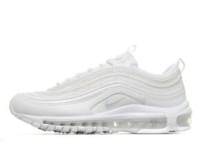 Details about NIKE AIR MAX 97 OG QS ''Triple White'' Grey Women Girls Boys  Trainers 921522-100