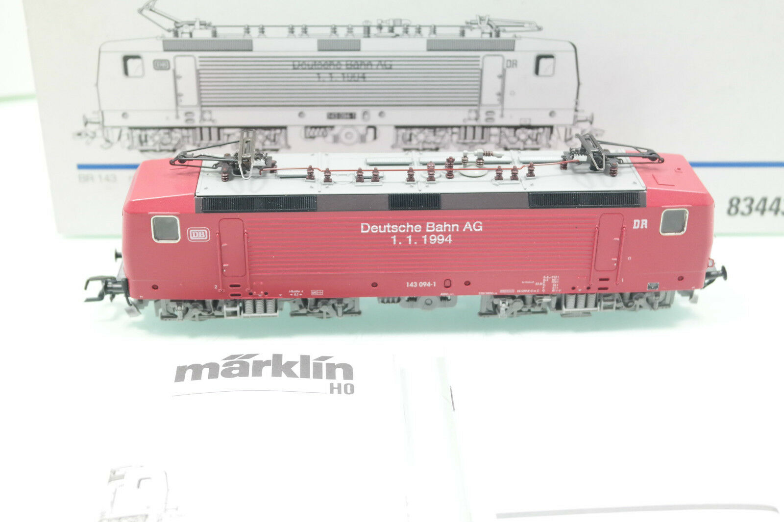 Märklin pista h0 E-Lok 83443 BR 143 serie speciale  Bahn AG 1.1.19  Digital (jm648) OVP
