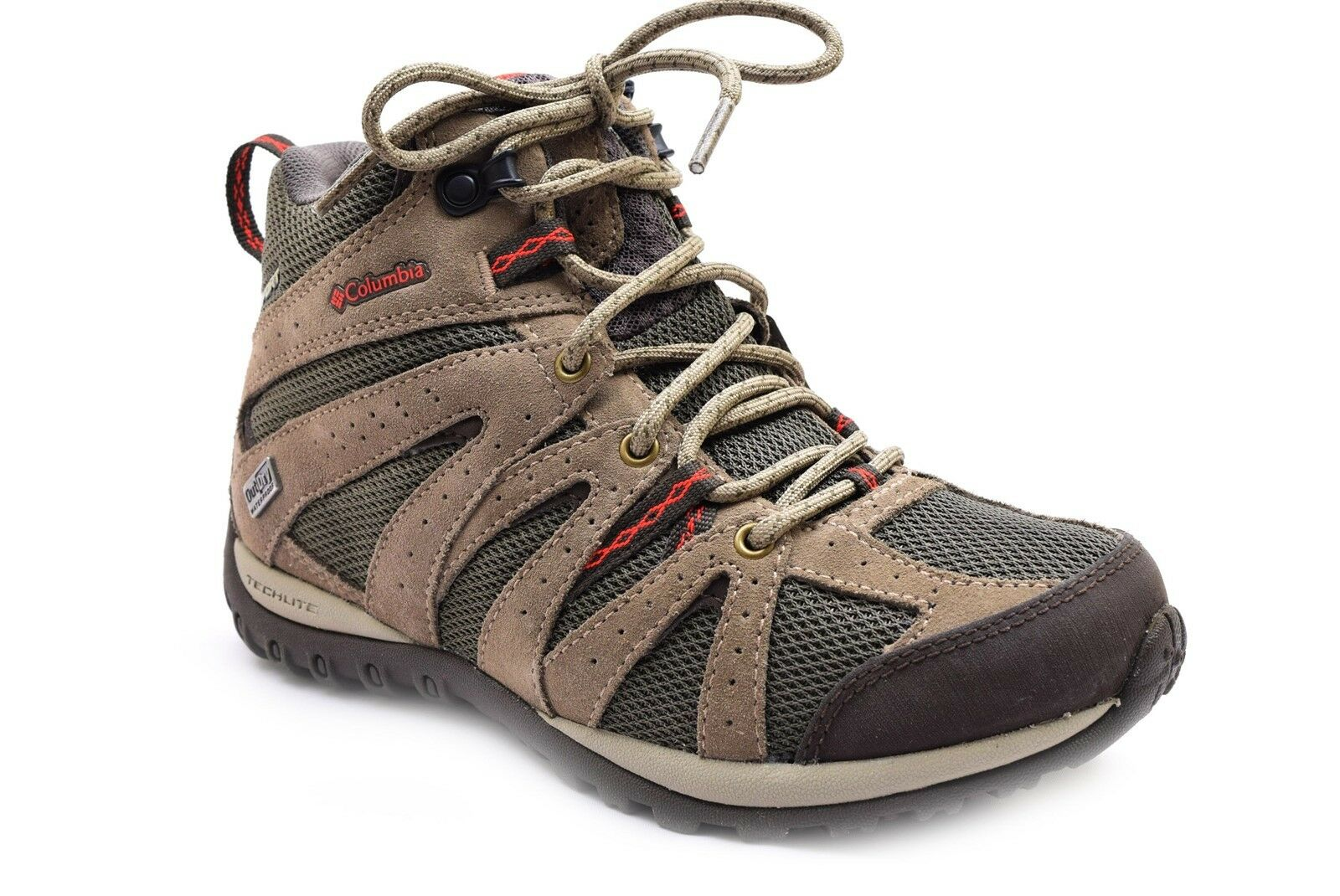 Columbia Women's Grand Canyon Mid Waterproof Mud / Poppy Red Size 5.5
