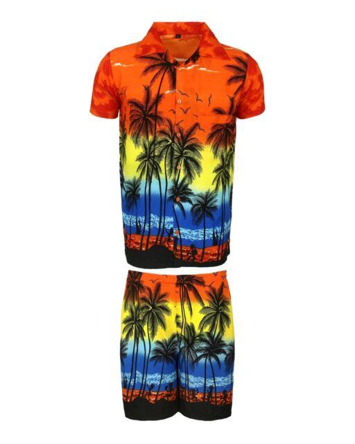 e1e01b880 Mens Hawaiian Shirt Stag Beach Hawaii Aloha Party Summer Holiday ...