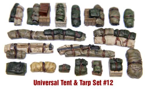 Value Gear Details 1//35 Universal Tents /& Tarps Set #12 18 Pieces