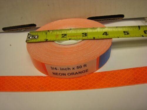 "NEON Flourescent  ORANGE  Reflective   Conspicuity Tape 3//4/"" x 50 ft"