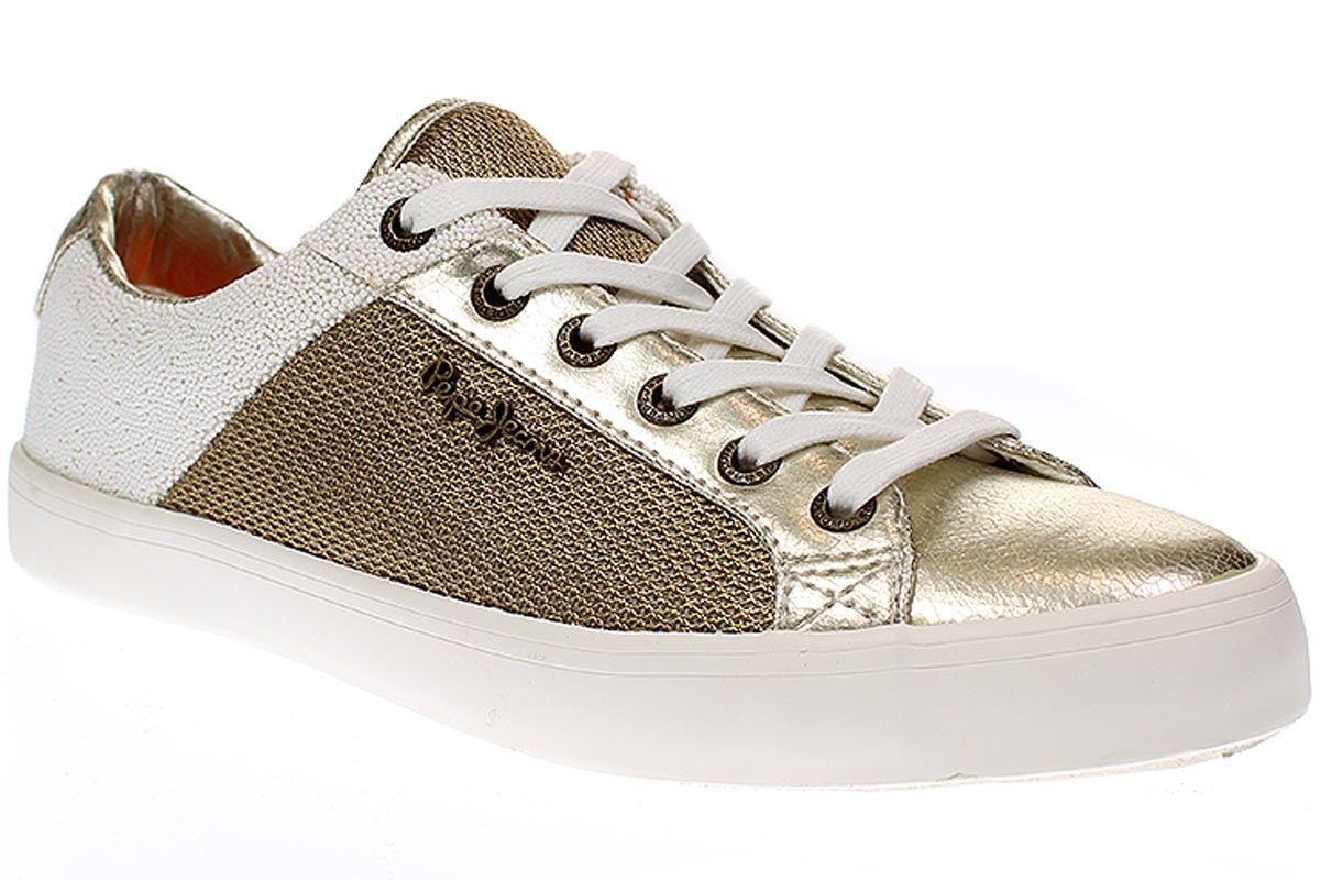 Pepe Jeans London CLINTON MESH Gold - Damen Schuhe Turnschuhe - PLS30466 - 099-Gold
