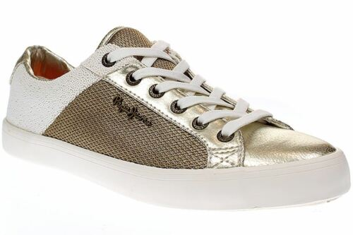London Damen Gold 099 Pepe Jeans Mesh Schuhe gold Pls30466 Clinton Sneaker 6xna5q