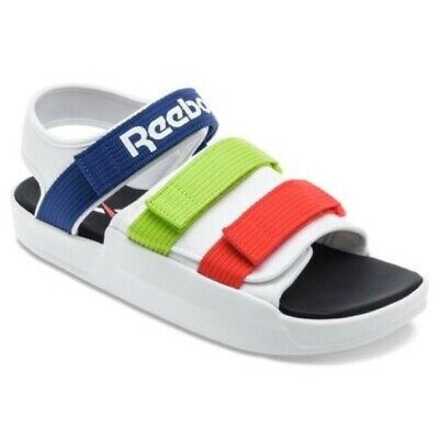 White// Multi New Reebok Classic SANDALSTYL EF8032 Slide Slipper Sandal Shoes