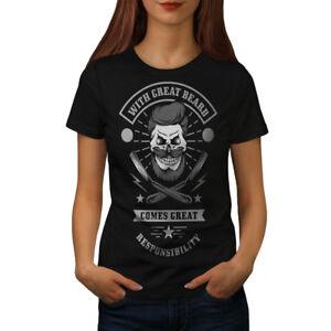 Wellcoda Great Beard Style Funny Womens T-shirt,  Casual Design Printed Tee