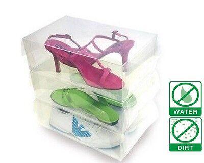 13 pc Clear Plastic Shoe Storage Transparent Boxes Container for Shoes Organizer