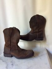 Ariat Men's Suede Square Toe Boots Western Cow Boy Style Size 9.5 D