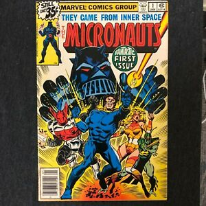 Micronauts-1-1st-Team-amp-Baron-Karza-Appearance-1979-Marvel-newsstand-VF-NM