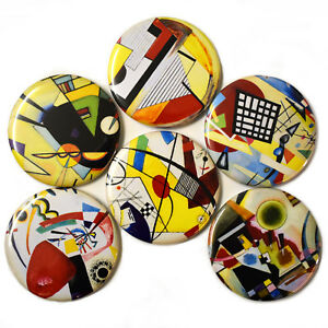 Bauhaus-Fridge-Magnets-Set-55mm-6pc-German-Art-Painting-Abstract-Gift