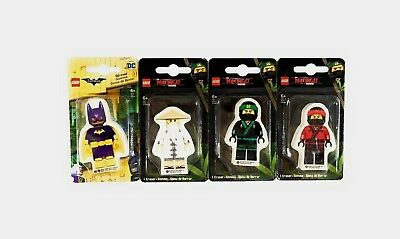 "SANTOKI* 2.75/"" LEGO MOVIE Character Shaped ERASER BATMAN+NINJAGO New*YOU CHOOSE*"