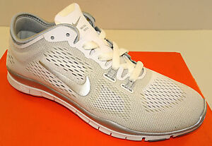 new product 78b2f 73ebe NIKE Free 5.0 TR Fit 4 Women's Crosstrainers White/Silver ...