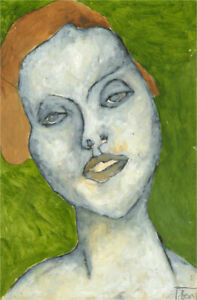 Ben Carrivick - Signed Contemporary Oil, Woman on Green