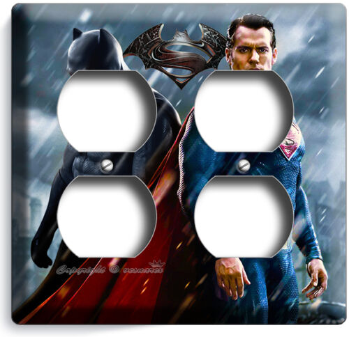BATMAN V SUPERMAN SUPERHEROES LIGHT SWITCH OUTLET WALL PLATE COVER BOYS BEDROOM