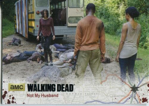 Walking Dead Season 4 Part 2 Black Parallel Base Card #37 Not My Husband