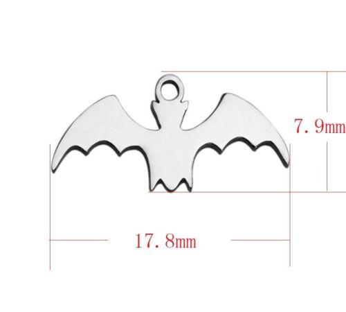 Halloween hp26 3 stainless steel Bat Charms Pendants Bracelets Harry Potter
