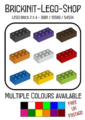 x10 in a pack *Choose Colour* Star Wars FREE UK POSTAGE Lego 2x4 Brick 3001