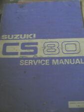 SUZUKI CS80 SERVICE MANUAL 1983