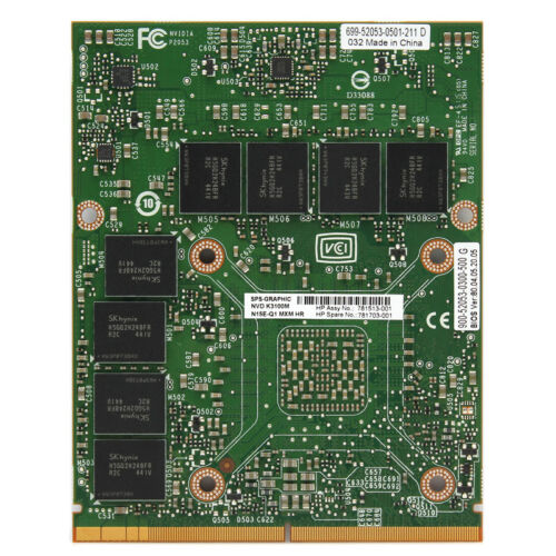 Quadro K3100M 4GB N15E-Q1-A2 MXM 3.0 Type B Laptop Video Card 728557-001 FOR HP