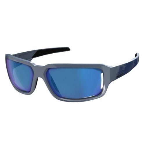 Radbrillen Scott Obsess ACS Sport Sonnenbrille blau/chrome amplifier