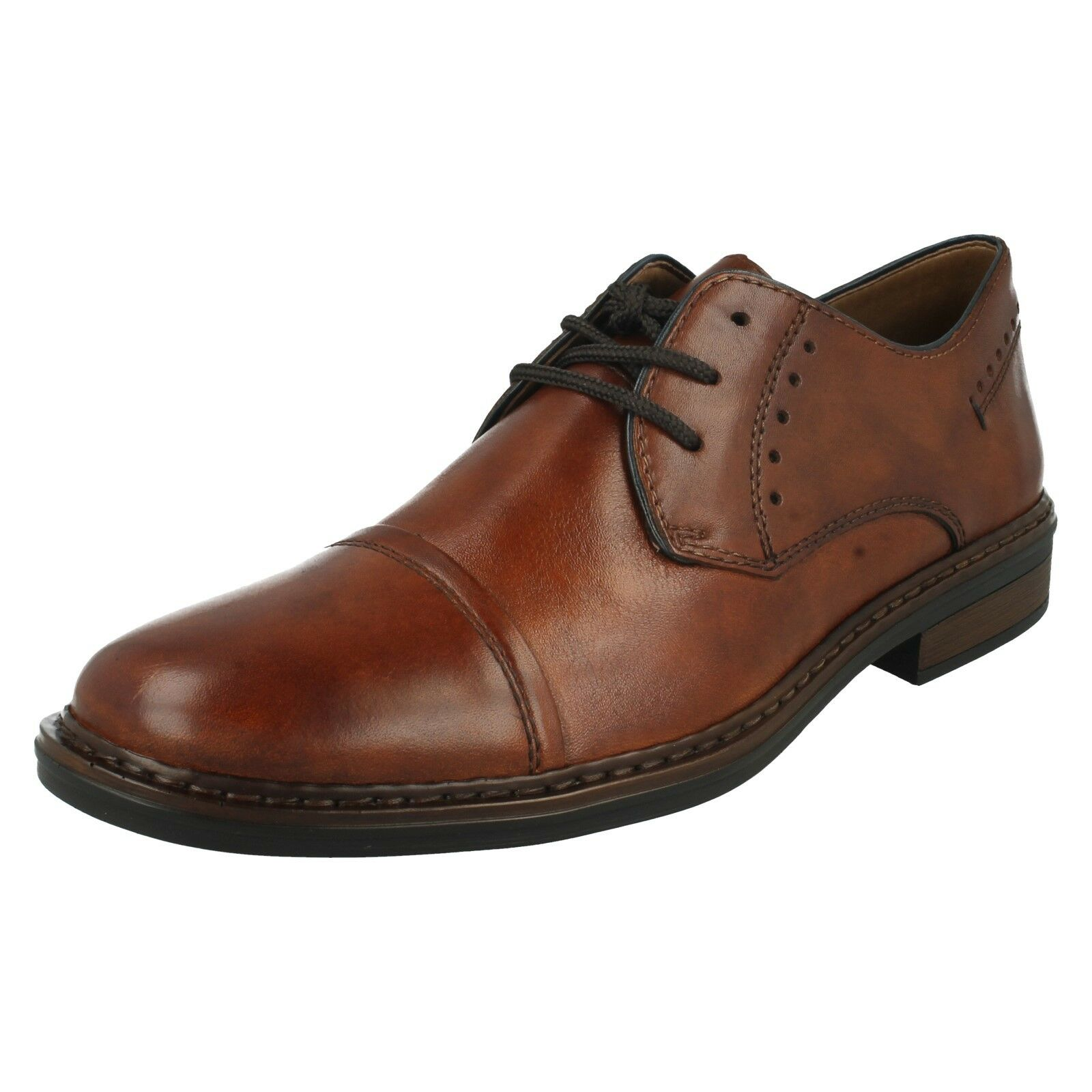 RIEKER MENS 17617 LACE UP LEATHER OFFICE SMART FORMAL EXTRA EXTRA EXTRA WIDE TOE CAP schuhe 642250