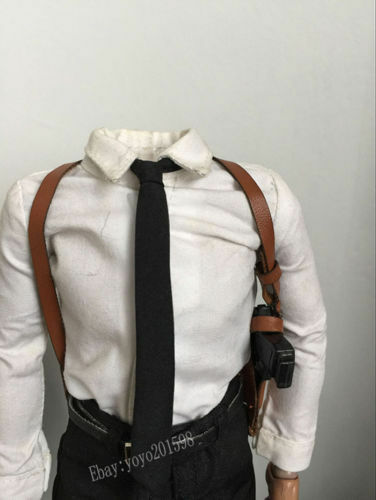 "Custom 1:6th Accessory Brown Underarm Stealth Holster Model For 12/"" Male Figure"