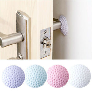 2Pcs-Golf-Modelling-Wall-Mute-Door-sticker-Rubber-Fenders-Lock-Pad-Protective