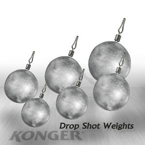 5pcs Round Balls Weights Lead Sinkers Coarse Perch Pike Fishing Tackle