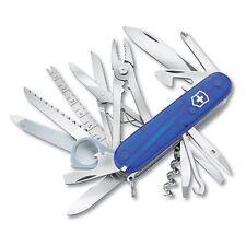 NEW SWISS ARMY 53507 SAPPHIRE LARGE SWISS CHAMP VICTORINOX MULTI TOOL KNIFE