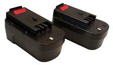 2x 18V 1500mAh Slide Battery for Black & Decker HPB18-OPE 244760-00 A1718 FS18BX