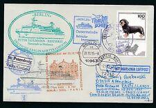 81585) LH FF Berlin - Paris 28.10.95, SP BP Brief Aufg. St.Petersburg - Visby