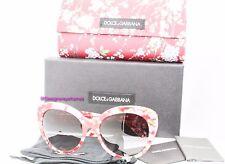 DOLCE & GABBANA 4236 2845/8G Red Flowerd Cateye Grad Squared Sunglasses NWT AUTH