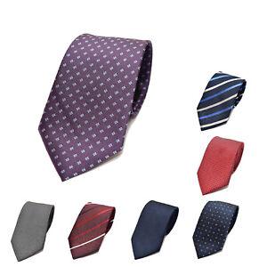 Seiden-Krawatte-Binder-100-Seide-hochwertig-gestreift-schmal-stilvoll