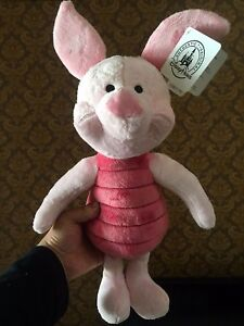 Disney Store Piglet Plush Toy From Winnie The Pooh Gift 45cm