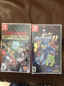 Transformers Battlegrounds & Megaman 11 (Nintendo Switch) Factory Sealed!