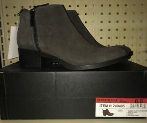 Kenneth Cole New York Womens Leather Ankle Bootie Boots Asphalt
