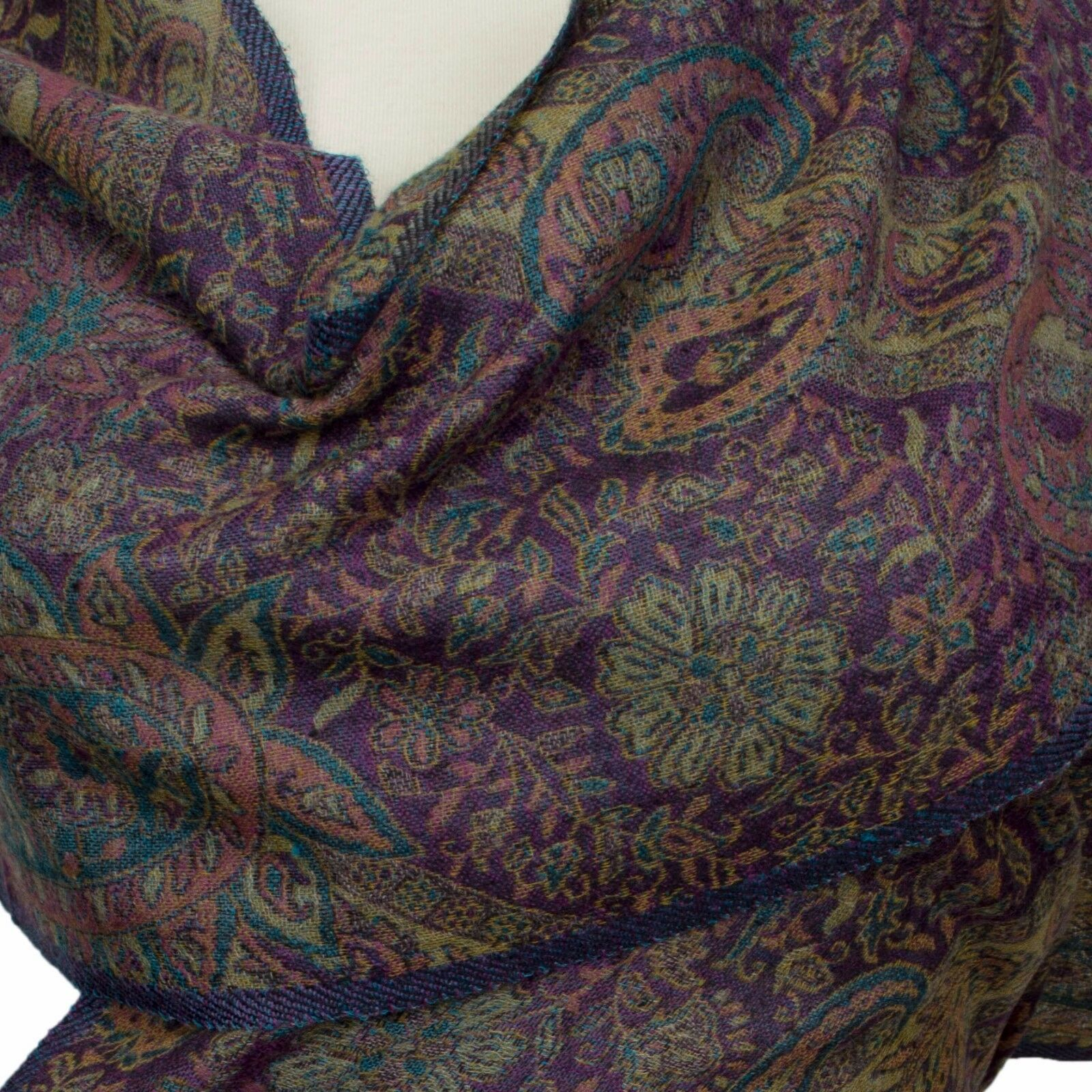 Pashmina  Schal 100% Kaschmir, Cashmere Cashmere Cashmere scarf  écharpe Foulard 34 x 167 Lila | Mittel Preis  | Attraktiv Und Langlebig  0f4fbb