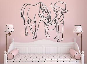 Wall-Room-Decor-Vinyl-Sticker-Mural-Decal-Nursery-Girl-Pony-Horse-Little-F2246