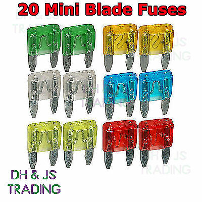 AUTOMOTIVE ASSORTED BULK PACK 2 TO 30 AMP MINI BLADE FUSE 500 PIECES