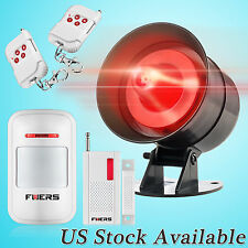 US Warehouse Wireless Home Burglary Security Flash/Strobe Alarm Siren System Kit