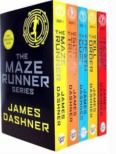Maze-Runner-Series-James-Dashner-5-Books-Set-The-Death-Cure-Scorch-Trials-NEW