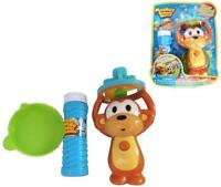 Monkey Bubble Blower Machine 3 Wand Battery Operated Blowing Bubblles With Fluid