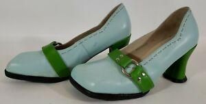 John-Fluevog-Vanny-Hi-Choice-Vanny-Green-Heart-Heel-Size-9-5