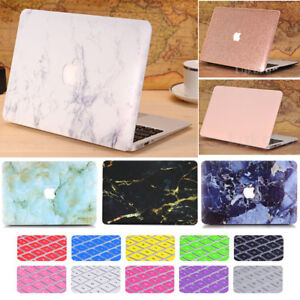 Silk-Leather-Marble-Matte-Hard-Case-KB-Cover-for-MacBook-Pro-15-034-A1286-w-CD-Rom